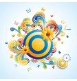 Creative funky background vector