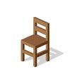 Empty wooden chair vector