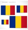 Romania flag template vector