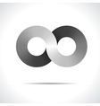 Abstract logo design template disco symbol vector