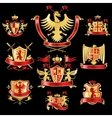Heraldic labels gold red vector