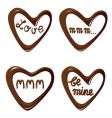Chocolate hearts vector