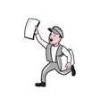 Newsboy selling newspaper cartoon vector