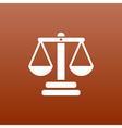 Justice icon symbol measurement balance vector