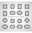 Set of vintage frames and design elements - vector