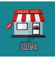 Online shop sale concept vector