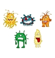 Cartoon monsters and demons set vector