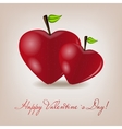 Happy valentines day card with apple heart vector