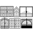 Set of different gates vector