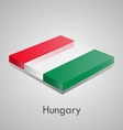 European flags set - hungary vector