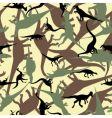 Dinosaur camouflage vector