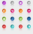 Colored set round web buttons icons element vector