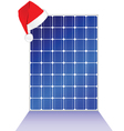 Solar panel with new year hat vector