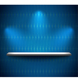 Shelf in a blue room vector