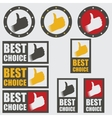 Set of best choice icons vector