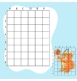 Draw on the squares a cute cartoon squirrel vector