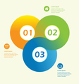 Modern circle infographic design template vector