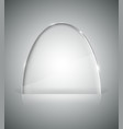 Transparent elliptic glass stand vector