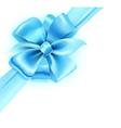 Blue bow vector