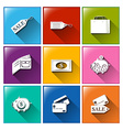 Icons for spending vector