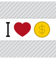 I love money vector
