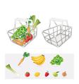 Grocery basket vector