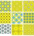 Seamless pattern background set vector