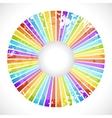 Vintage rainbow round postcard vector