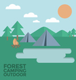 Forest camping outdoor vector