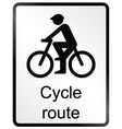 Cycle route information sign vector