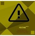 Danger exclamation mark flat modern web design on vector