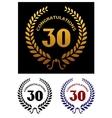 Anniversary jubilee celebration emblems vector