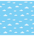 Blue sky clouds pattern vector