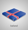 European flags set - iceland vector