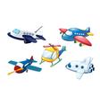 Various air planes vector