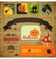Retro halloween card vector