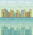 Panorama of cities vector