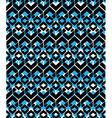Black and blue stylized symmetric endless pattern vector