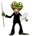 Frog in a suit vector