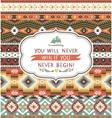 Ethnic print pattern background vector