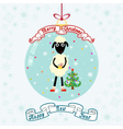 Christmas ball with sheep vector