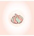 Meringue dessert hand drawn sketch on pink vector