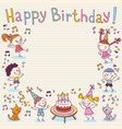 Happy birthday card 12 vector