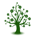 Beautiful green art tree on white background vector