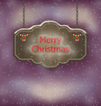 Night background with hanging merry christmas vector