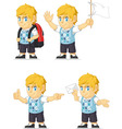 Blonde rich boy customizable mascot 9 vector