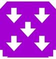 Down arrow web icon flat design seamless gray vector