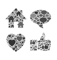 Grey web and mobile detailed transparent symbols vector