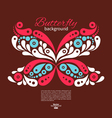 Background with beautiful butterfly vector