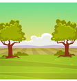 Cartoon landscape vector
